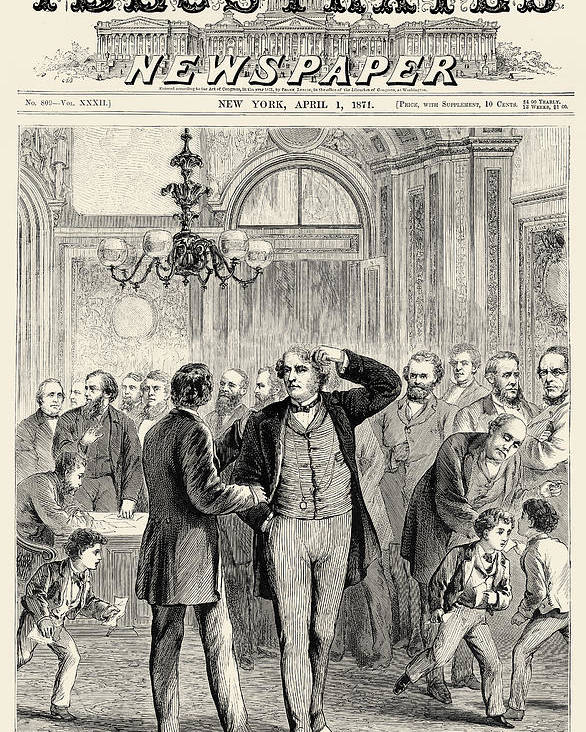 1871 Poster featuring the photograph Charles Sumner (1811-1874) by Granger