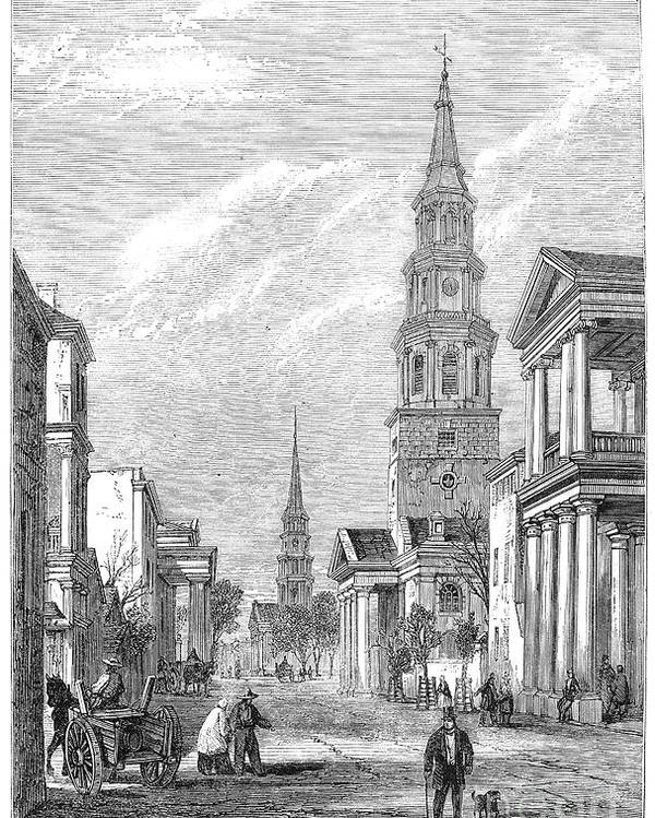 1861 Poster featuring the photograph Charleston: Church, 1861 by Granger