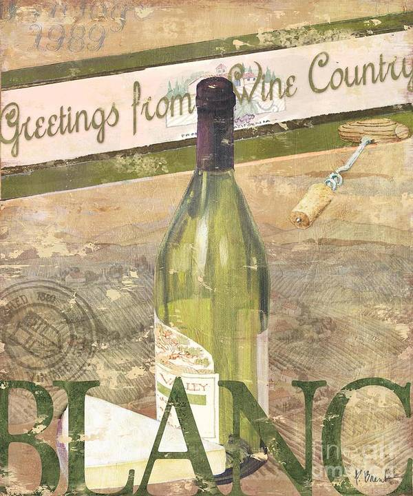 Cabernet Poster featuring the painting Chateau Chardonnay by Paul Brent