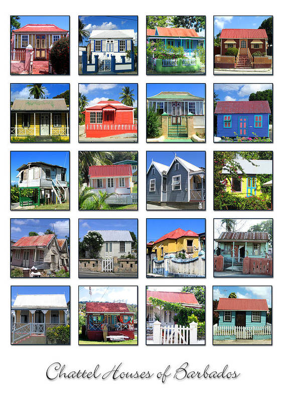 Barbados Poster featuring the photograph Chattel Houses Of Barbados by Barbara Marcus