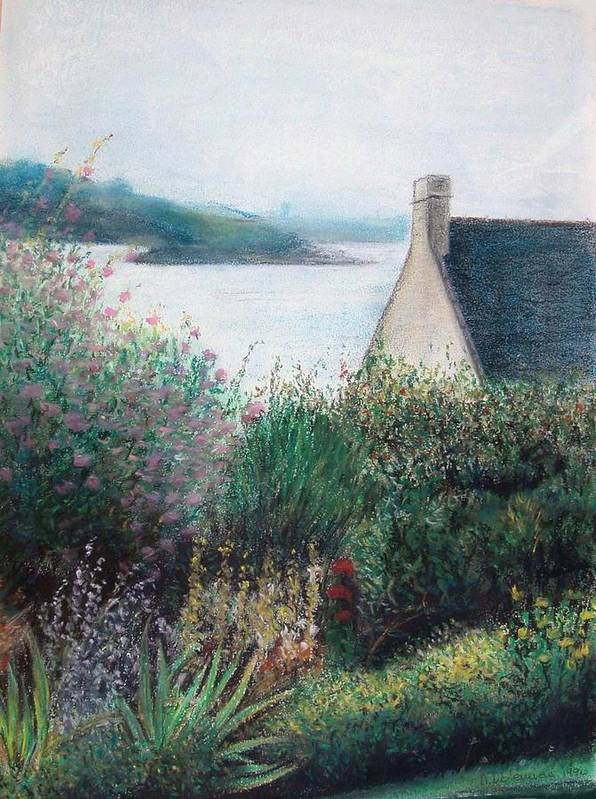 Landscape Poster featuring the painting Chausey by Muriel Dolemieux