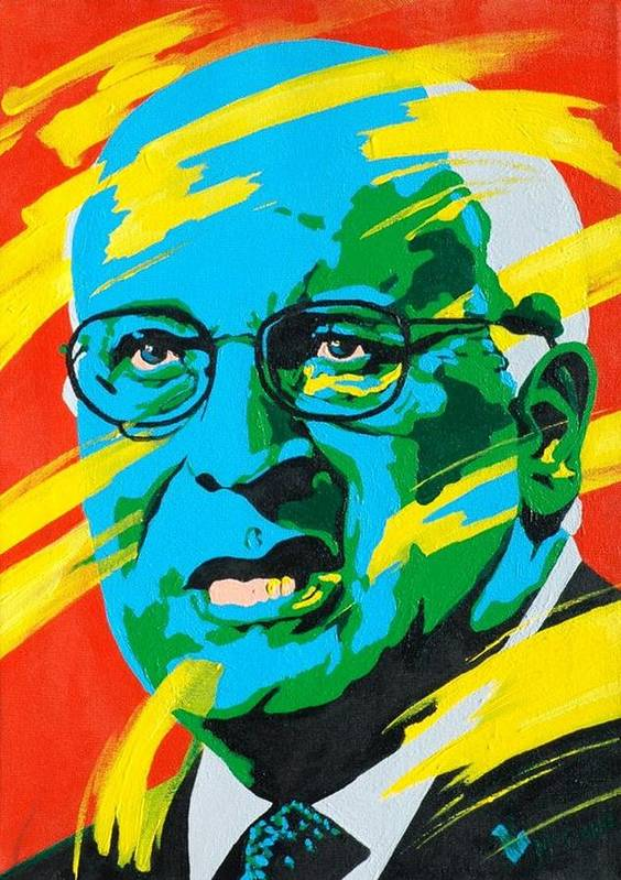 Painting Poster featuring the painting Cheney by Dennis McCann