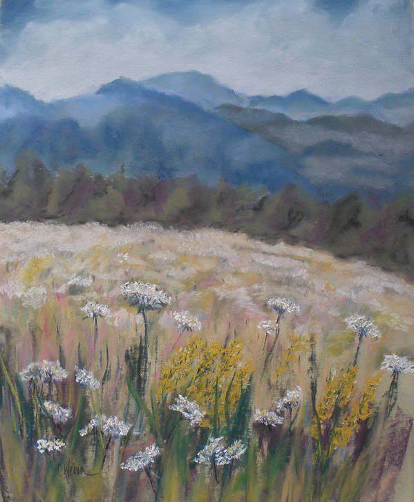 Cherokee Nc Poster featuring the painting Cherokee Wildflowers by Cathy Weaver