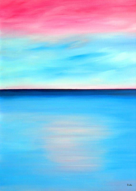 Caribbean Poster featuring the painting Cherry Sky by Sula Chance