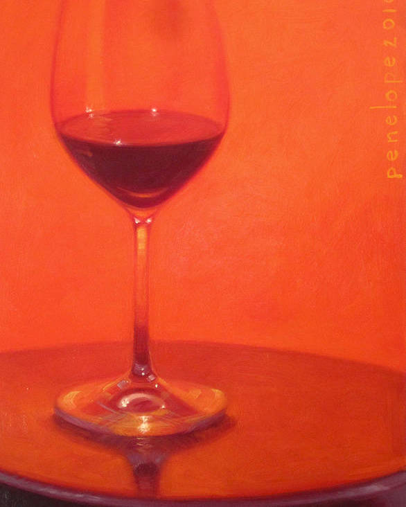 Wine Painting Poster featuring the painting Cherry Spice by Penelope Moore