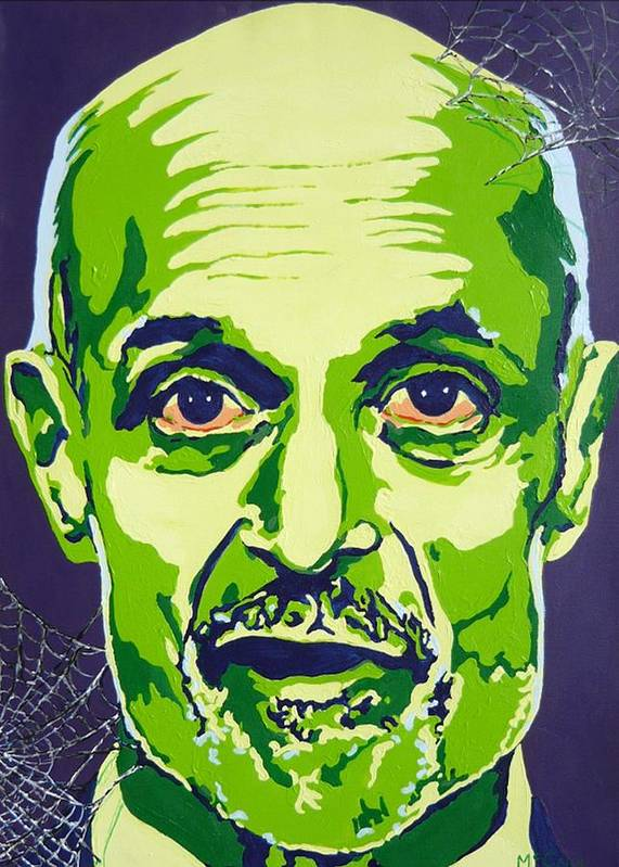 Politics Poster featuring the painting Chertoff by Dennis McCann