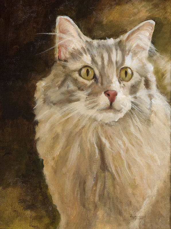 Animal Poster featuring the painting Chessie by Jimmie Trotter