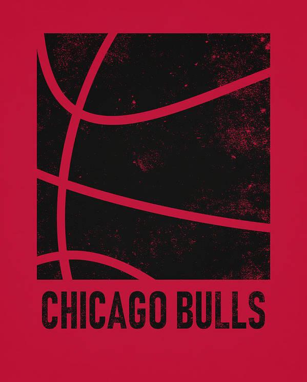 Bulls Poster featuring the mixed media Chicago Bulls City Poster Art 2 by Joe Hamilton
