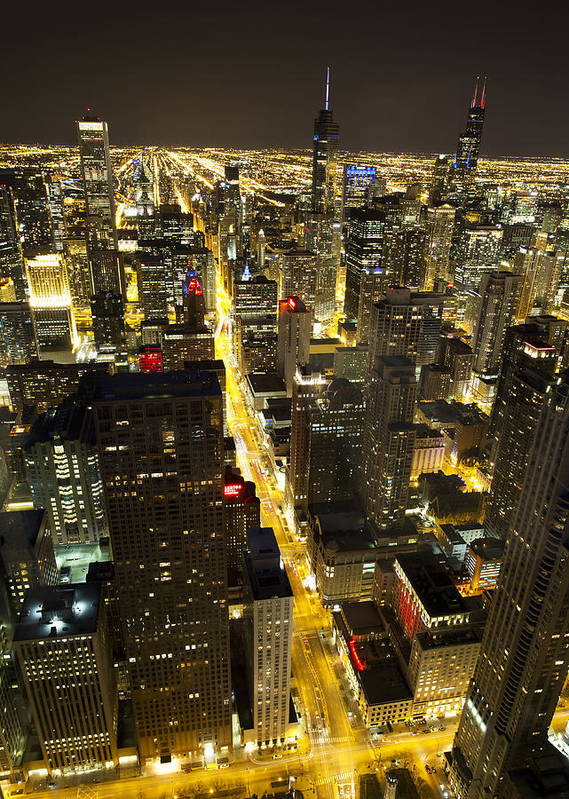 Chicago Poster featuring the photograph Chicago Is Always Alive by Shawn Everhart