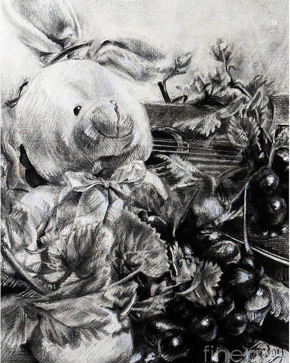 Roamalubay Poster featuring the drawing Childandmusic by Roa Malubay