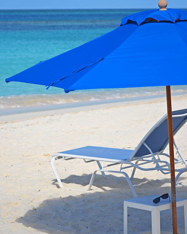 Caribbean Poster featuring the photograph Chilling On The Beach Anguilla Caribbean by Toby McGuire