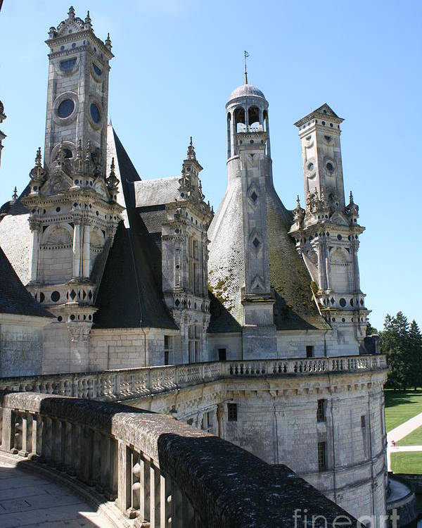 Chimney Poster featuring the photograph Chimney From Chambord - Loire by Christiane Schulze Art And Photography