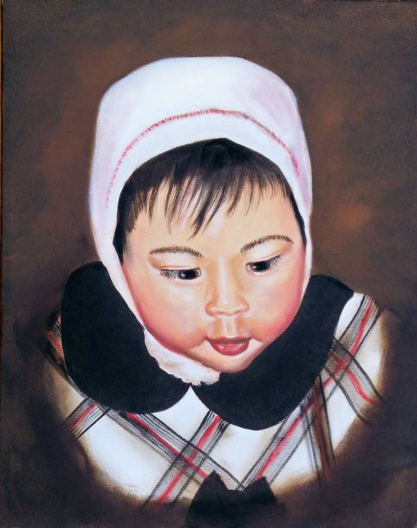 Oil Painting Poster featuring the painting China Doll by Joni McPherson