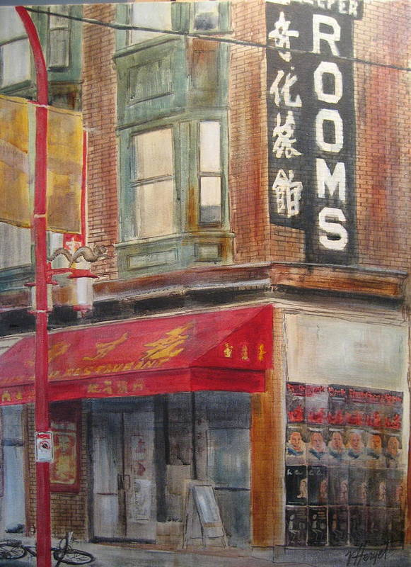 Rooming House Poster featuring the painting Chinatown 1 by Victoria Heryet