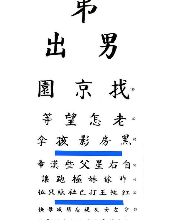 Chinese Eye Chart Poster By Larry Mulvehill
