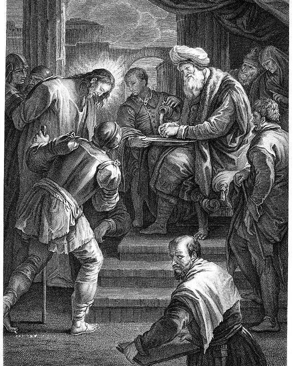 18th Century Poster featuring the photograph Christ Before Pilate by Granger