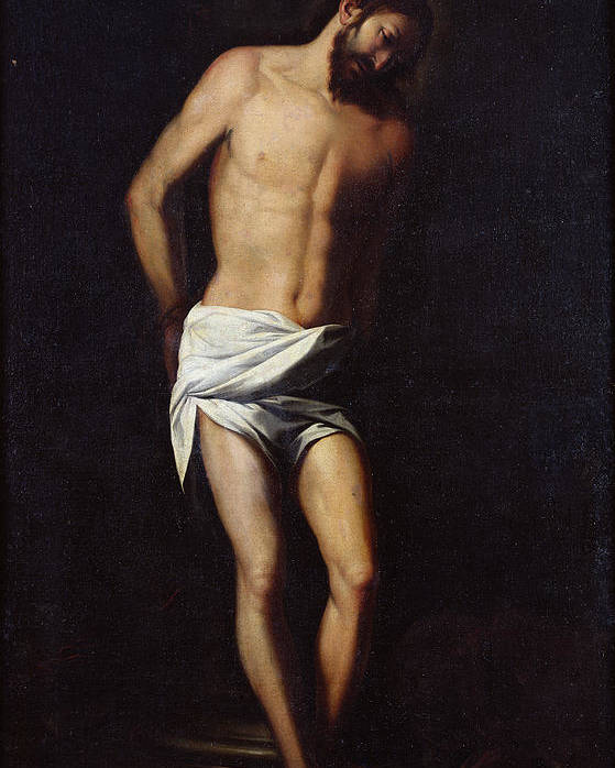 Jesus Poster featuring the painting Christ Bound To The Column by Alonso Cano