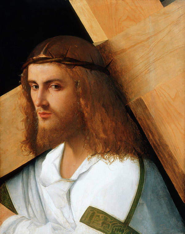 Christ Carrying Cross Poster featuring the painting Christ Carrying The Cross by Giovanni Bellini