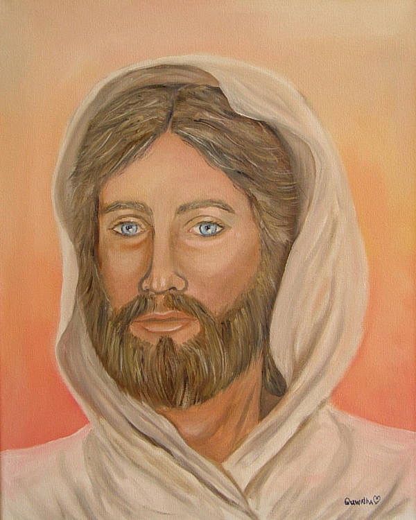 Christ Poster featuring the painting Christ by Quwatha Valentine