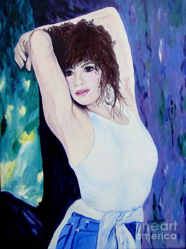 Portrait Poster featuring the painting Christina by Lisa Rose Musselwhite
