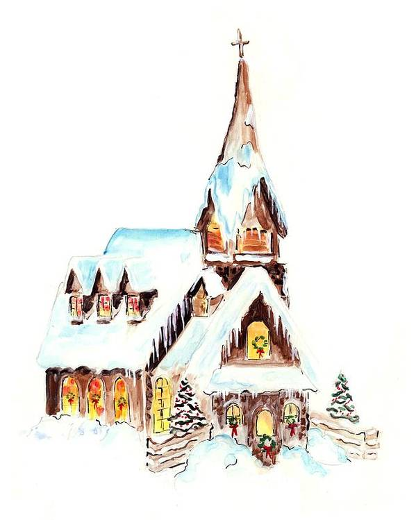 Christmas Poster featuring the painting Christmas Eve by Rosemary Babikan