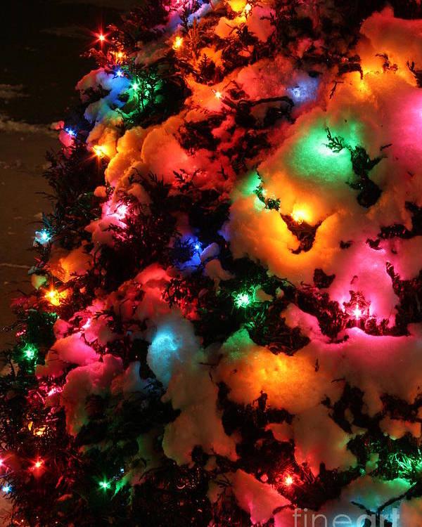 Christmas Lights Coldplay Poster By Wayne Moran