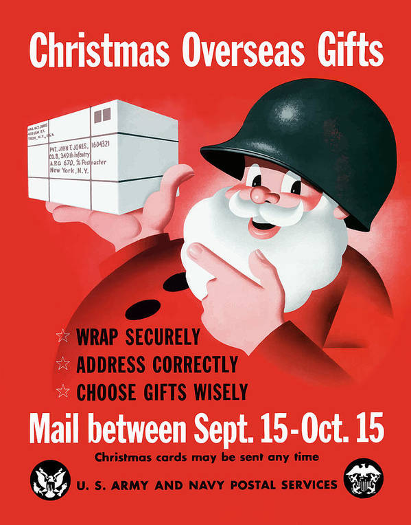 Christmas Overseas Gifts -- Ww2 Poster