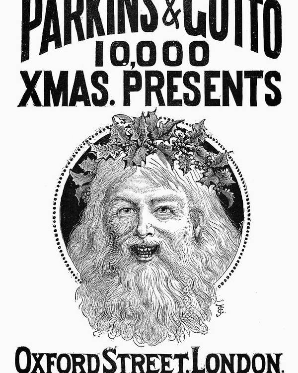 1890 Poster featuring the photograph Christmas Present Ad, 1890 by Granger