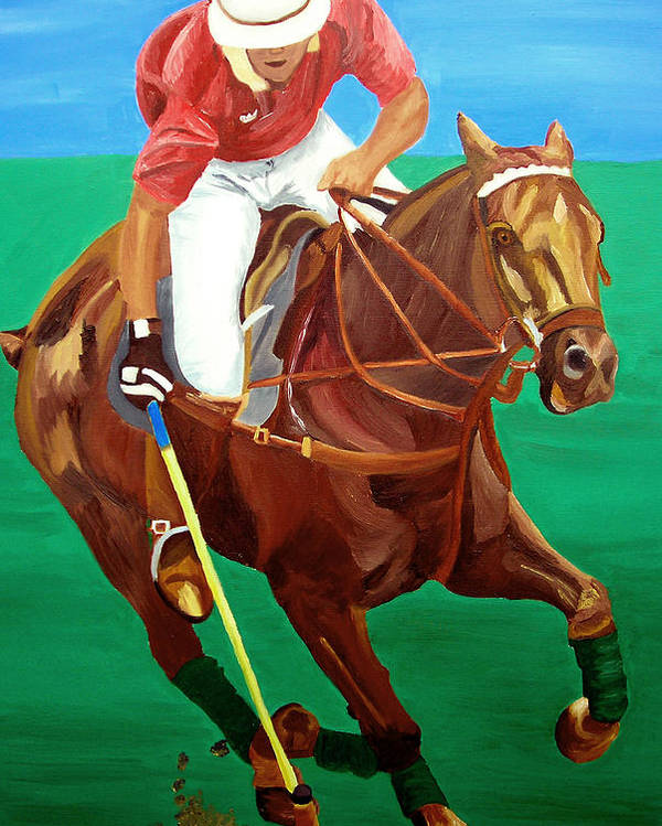 Polo Poster featuring the painting Chukar by Michael Lee