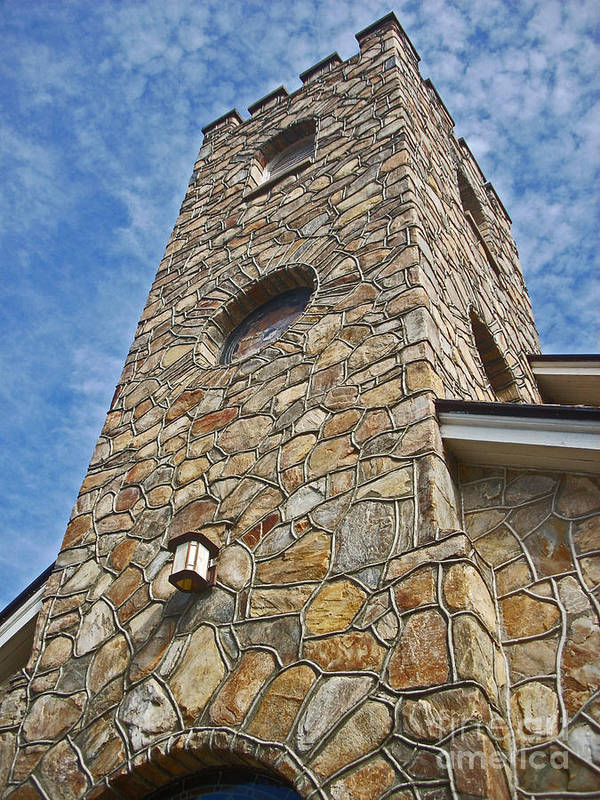 Church Tower Poster featuring the photograph Church Tower by Beebe Barksdale-Bruner