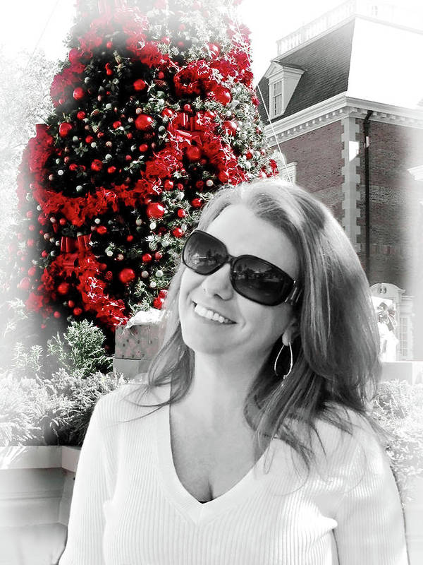 Christmas Poster featuring the digital art Cindy by Joan Minchak