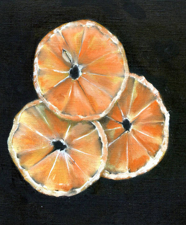 Orange Poster featuring the painting Circle Of Orange by Penny Everhart