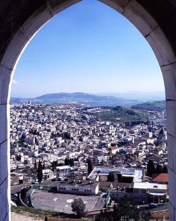 Israel Poster featuring the photograph City Of Nazareth From The Saint Gabriel Bell Tower by Thomas R Fletcher
