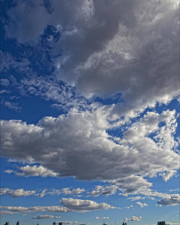 Clouds Poster featuring the photograph City Skyline by Robert Ullmann