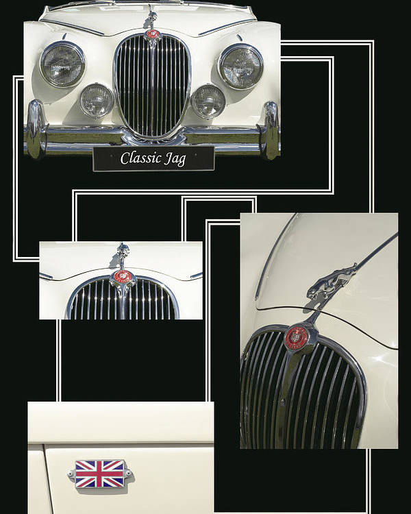 Classic Poster featuring the photograph Classic Jag by Hazy Apple