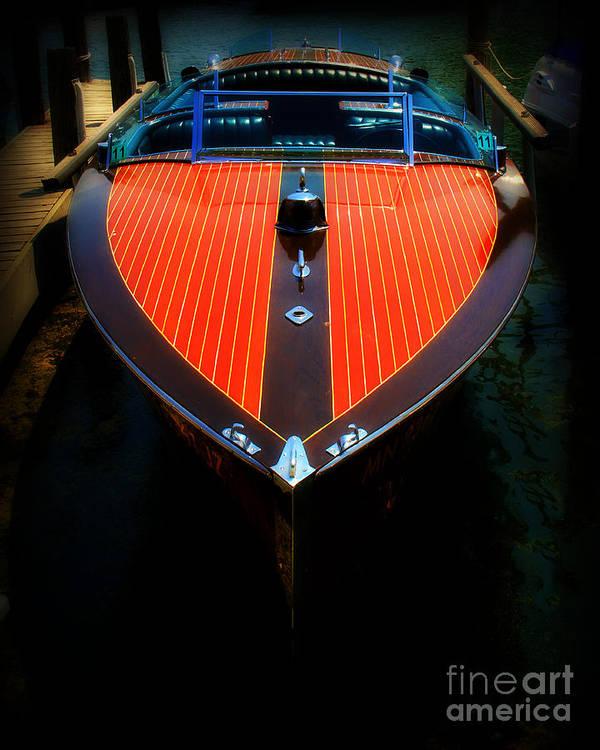 Boat Poster featuring the photograph Classic Wooden Boat by Perry Webster