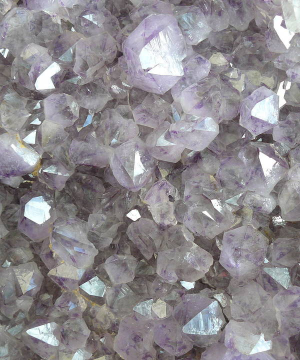 Sparkling Clear Light Purple Amethyst Crystal Stone Poster featuring the photograph Clear Crystal Amethyst by The Quarry