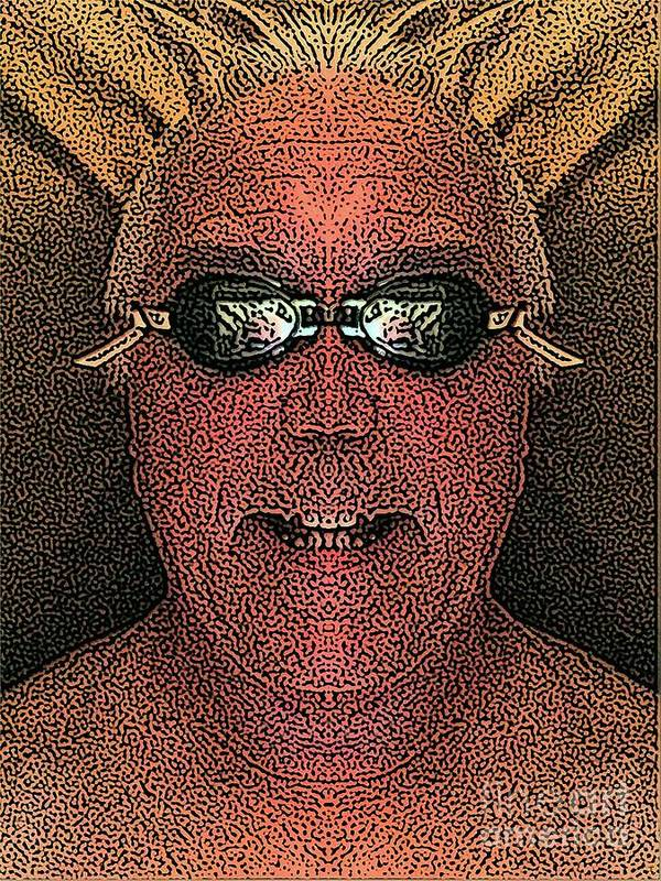 Self Portrait Poster featuring the digital art Clear Mind by Ron Bissett