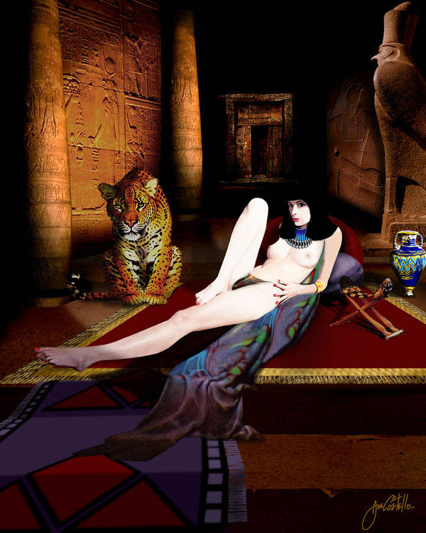 Cleo Poster featuring the digital art Cleo by Joe Costello