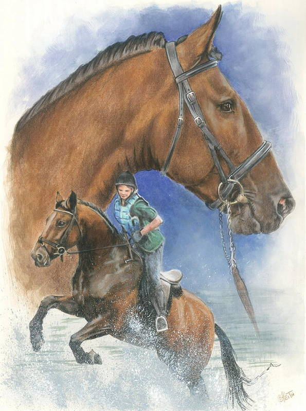 Hunter Jumper Poster featuring the mixed media Cleveland Bay by Barbara Keith