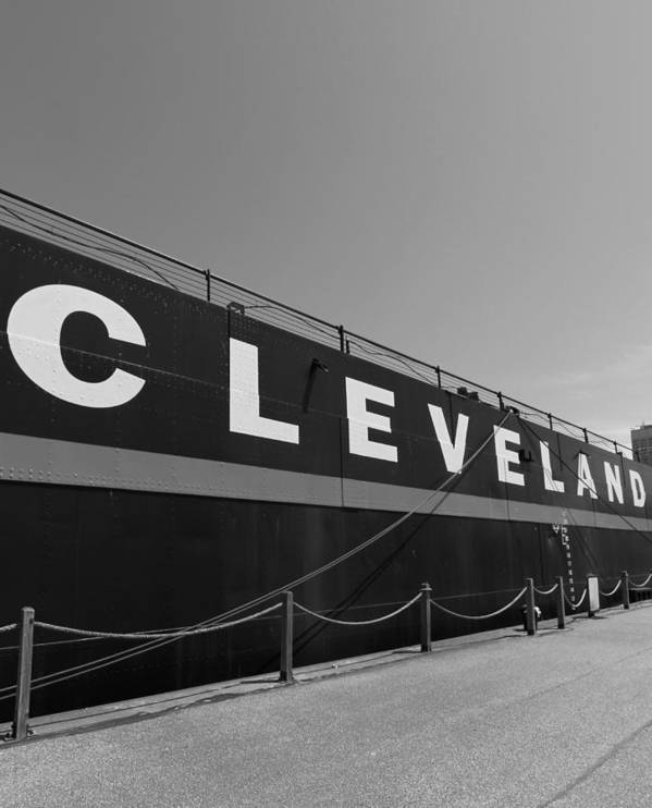 Steamship William G. Mather Maritime Museum Poster featuring the photograph Cleveland by Dan Sproul