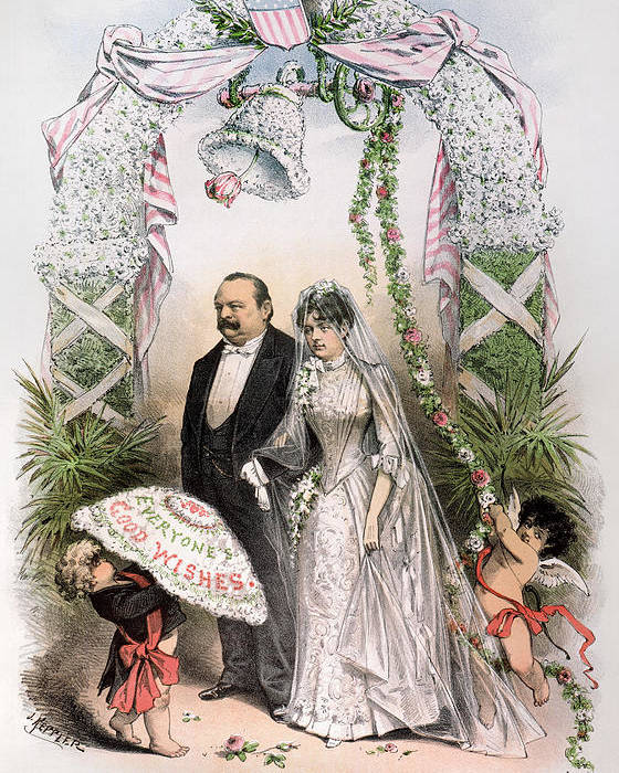 1886 Poster featuring the photograph Clevelands Wedding, 1886 by Granger