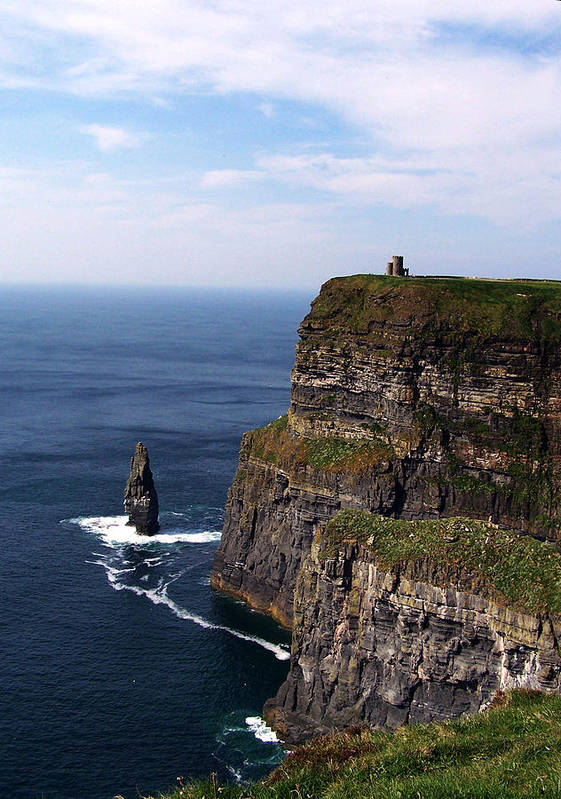 Irish Poster featuring the photograph Cliffs Of Moher County Clare Ireland by Teresa Mucha