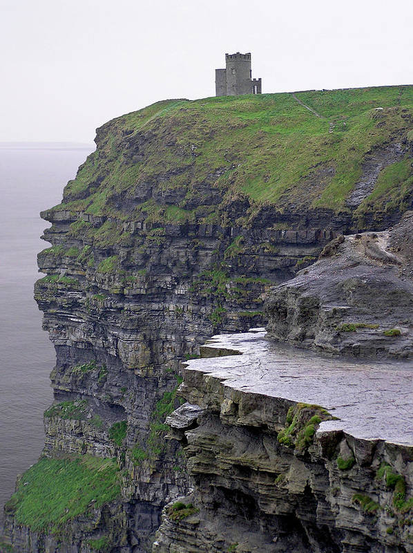 Cliff Poster featuring the photograph Cliffs Of Moher Ireland by Charles Harden