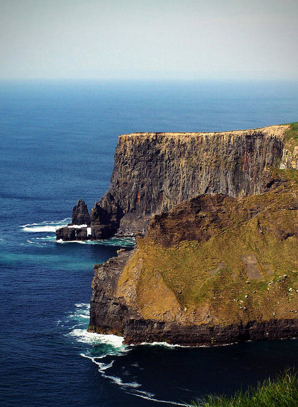 Irish Poster featuring the photograph Cliffs Of Moher Ireland View Of Aill Na Searrach by Teresa Mucha