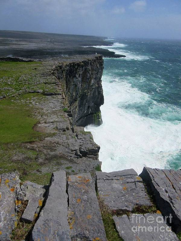 Ireland Poster featuring the photograph Cliffs Of The Aran Islands 5 by Crystal Rosene