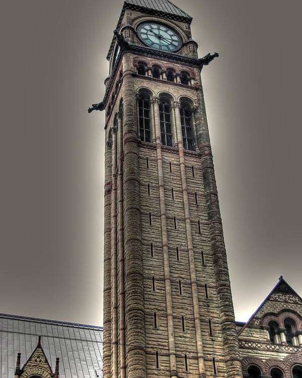 Rcouper Poster featuring the photograph Clock Tower by Rick Couper