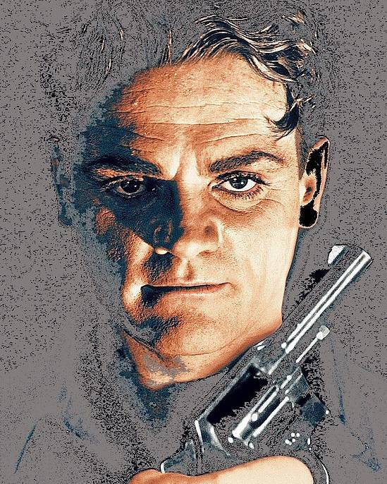 Close Up James Cagney As Gangster Rocky Sullivan In Angels With Dirty Faces 1938-2008 Poster featuring the photograph Close Up James Cagney As Gangster Rocky Sullivan In Angels With Dirty Faces 1938-2008 by David Lee Guss