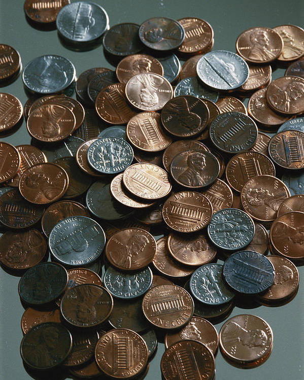 american Coins Poster featuring the photograph Close View Of United States Coins by Vlad Kharitonov