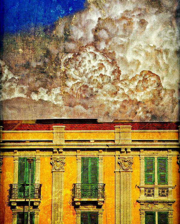 Building Poster featuring the photograph Cloud Like Whipped Cream by Silvia Ganora